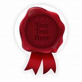 Red Wax Seal Sticker Design 1