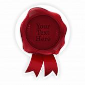 Red Wax Seal Sticker Design 2