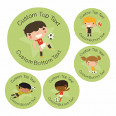 Character Football Reward Stickers