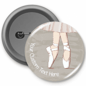 Ballet Shoes- Customised Button Badge