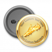 Golden Boot - Customised Button Badge