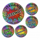 Super Sparkly Italian Praise Stickers