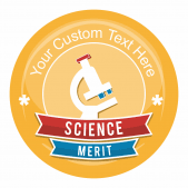 Science Banner Stickers