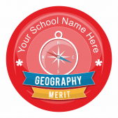 Geography Banner Stickers