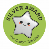 Silver Star Award Stickers 35mm