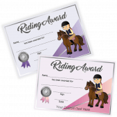 Riding award Certificates