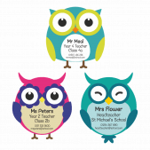 Contact Us Fridge Magnets - Mixed Owls