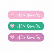 Pencil Name Stickers - Heart