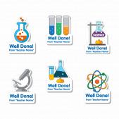 Custom Shape Science Stickers