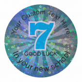 Good Luck in your new school Sparkly Stickers