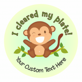 Cheeky Monkey Lunchtime Reward Stickers