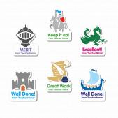 Custom Shape History Stickers
