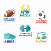 Custom Shape PE Stickers