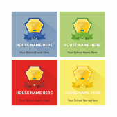 Academic Rewards House Stickers Multipack