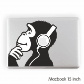 Ape Headphones Laptop Sticker