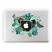Camera Watercolour Laptop Sticker