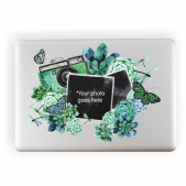 Camera Watercolour Photo Upload Laptop Sticker