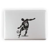Footballer Custom Name Laptop Sticker