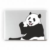 Panda Eating Apple Laptop Sticker