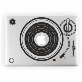Retro Vinyl Player Laptop Sticker