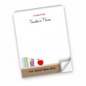 A note from teacher desk Notepad