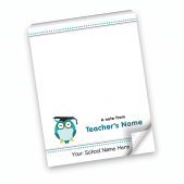 A note from teacher owl Notepad