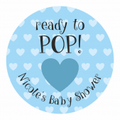 Ready to Pop Blue Heart Stickers