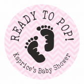 Ready to Pop Pink Footprint Stickers