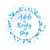 Ready to Pop Blue Spotty Stickers