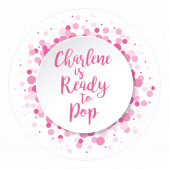 Ready to Pop Pink Spotty Stickers