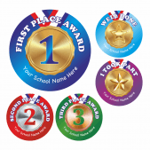 Sports Day Stickers Set 7 - Metallic Medals