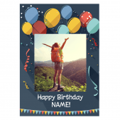 Happy Birthday Photo Upload Poster- Matte