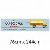 Welcome Back to School Bus Banner