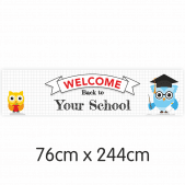 Owls Welcome Back to School Banner