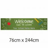 Chalkboard Welcome Back Banner