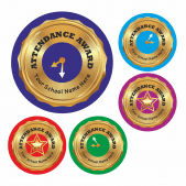Gold Effect Attendance Clock Stickers