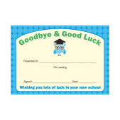 Goodbye & Good Luck Leavers Certificate