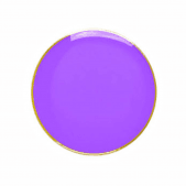 Round Badge Purple