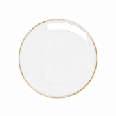 Round Badge White