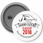 Doodle Good Luck Class of... Button Badges