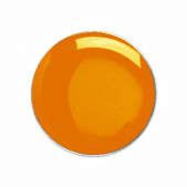 Round Badge Orange