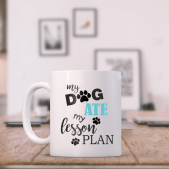 Teacher Mug - The Dog Ate My Lesson Plan