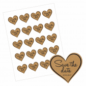 Save the Date Heart Stickers