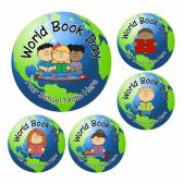 World Book Day Globe Stickers