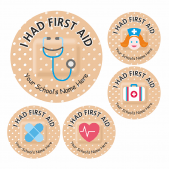 First Aid Plaster Stickers