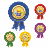Well Done Rosette Stickers