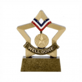 Well Done Medal Mini Star Trophy