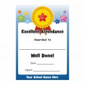 Excellent Attendance Rosette Award Certificates