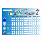 A3 Blue Boys Potty Chart & Star Stickers