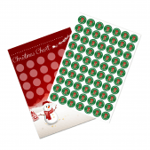 A4 Christmas Reward Chart and 70 Matching Stickers